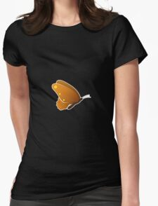 Cute cartoon butterfly Womens Fitted T-Shirt
