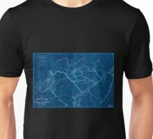 0038 Railroad Maps Map of the railroads canals connecting the coal estate of the Broad Mountain Improvement Co with the Atlantic Inverted Unisex T-Shirt