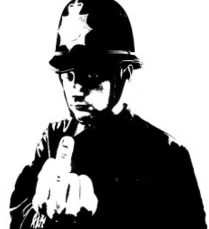 Graffiti Police Finger Up Sticker