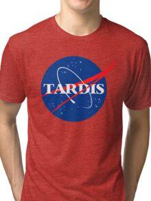 Tardis Nasa logo Doctor Who Tri-blend T-Shirt