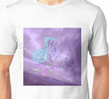 Purple Music Notes Abstract 2 Unisex T-Shirt