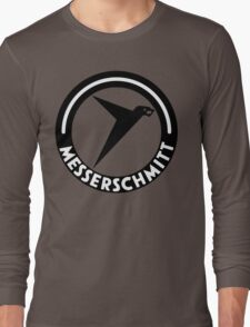 Messerschmitt Aircraft Logo -Black- (No Label) Long Sleeve T-Shirt