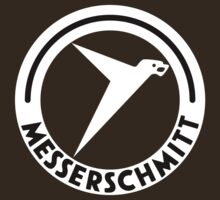 Messerschmitt Aircraft Logo -White- (No Label) by warbirdwear