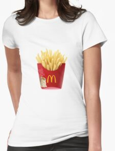 Fries Womens Fitted T-Shirt