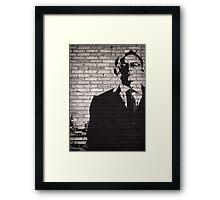 Person of Interest - Mr. Finch Graffiti style Framed Print