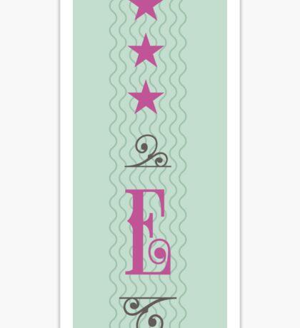 E Ticket Sticker