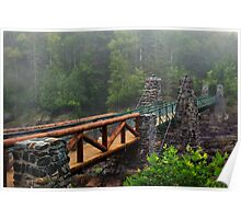 The Old Swinging Bridge Restored Poster