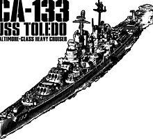 USS Toledo (CA-133) by deathdagger