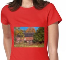 Red Barn In October Womens Fitted T-Shirt