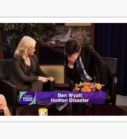 parks and recreation - human disaster  Sticker