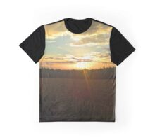 Cloudy Sunset Graphic T-Shirt
