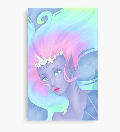 pastel mermaid Canvas Print