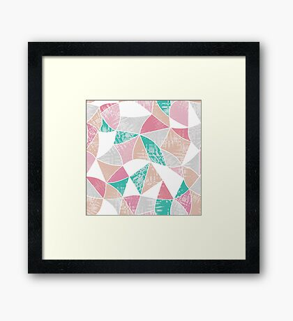 Abstract graphic pattern. Fun triangles.  Framed Print