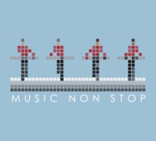 PIXEL8 | Music Non Stop | Red One Piece - Short Sleeve