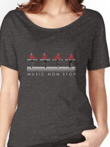 PIXEL8 | Music Non Stop | Red Women's Relaxed Fit T-Shirt