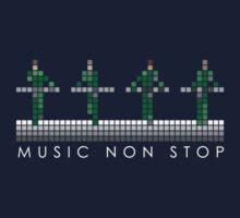 PIXEL8 | Music Non Stop | Green Kids Tee