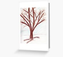 The Lonely Tree in the Snow Greeting Card