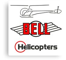 Retro Bell 47 Helicopter Canvas Print