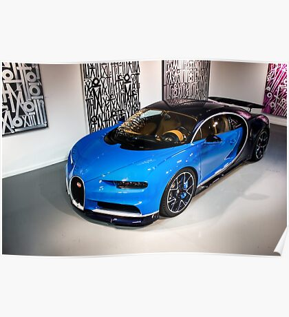 The First Bugatti Chiron to Enter the U.S. Poster