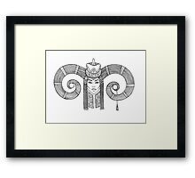 Aries Mongolian Woman in Traditional Mongolian dress. Horoscope. Astrology. Framed Print