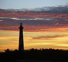Cape Hatteras Lighthouse at Sunset - Outer Banks, NC by MotherNature