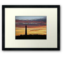 Cape Hatteras Lighthouse at Sunset - Outer Banks, NC Framed Print
