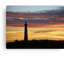 Cape Hatteras Lighthouse at Sunset - Outer Banks, NC Canvas Print