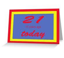 21 again Birthday 36th Greeting Card