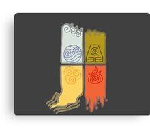 Elemental Scrolls Canvas Print