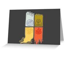 Elemental Scrolls Greeting Card