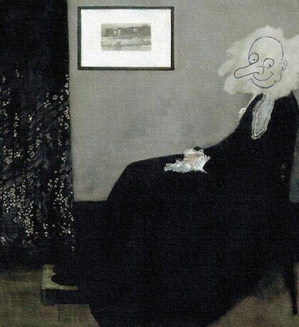 Whistler's Mother - Mr. Bean Sticker
