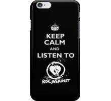 Keep calm and listen to Rise Against white iPhone Case/Skin
