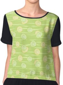 Colorful illustration . The Lemon & Lime.  Chiffon Top