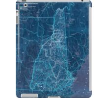 0143 Railroad Maps Railroad map of New Hampshire accompanying report of the railroad commissioners Inverted iPad Case/Skin