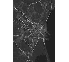 Valencia, Spain Map. (White on black) Photographic Print