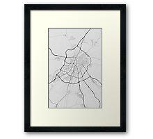 Valladoid, Spain Map. (Black on white) Framed Print