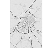 Valladoid, Spain Map. (Black on white) Photographic Print