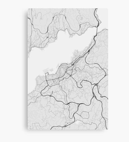 Vigo, Spain Map. (Black on white) Canvas Print