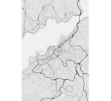 Vigo, Spain Map. (Black on white) Photographic Print