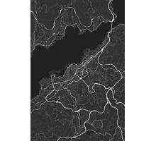Vigo, Spain Map. (White on black) Photographic Print