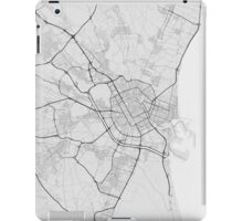 Valencia, Spain Map. (Black on white) iPad Case/Skin