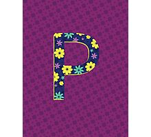 Flower Letter P Photographic Print