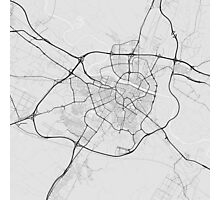 Zaragoza, Spain Map. (Black on white) Photographic Print