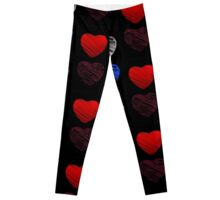 Sketched red heart  Leggings