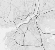 Gothenburg, Sweden Map. (Black on white) by Graphical-Maps