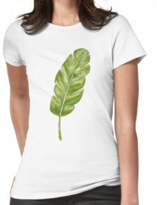 tropical leaf Womens Fitted T-Shirt