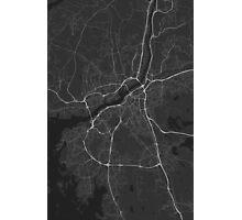 Gothenburg, Sweden Map. (White on black) Photographic Print