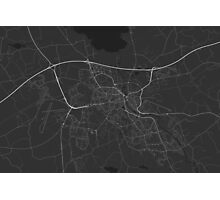 Linkoping, Sweden Map. (White on black) Photographic Print