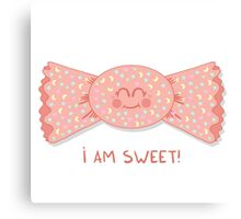 Sweet cute candy girl Canvas Print
