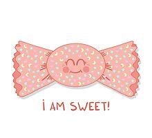 Sweet cute candy girl Photographic Print